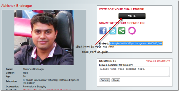 vote abhishek in amd competition